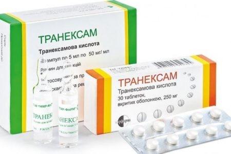 Транексам форма выпуска препарата